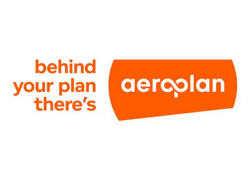 An image of aeroplan logo. Behind your plan there's aeroplan.